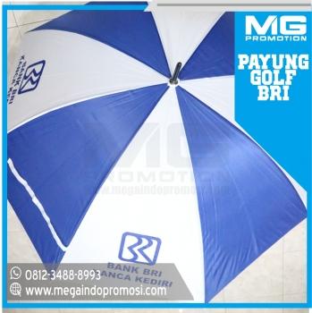 Payung Golf Promosi Putih Biru Bank BRI